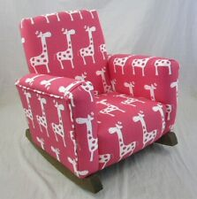 New Children's Upholstered Rocking Chair Stretch Toddle Rock for Kid