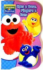 New Sesame Street Beginnings BOARD BOOKS Baby Big Bird Cookie ELMO~ Eyes & Nose