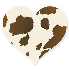 """Cow Print Heart Love car bumper sticker 4"""" x 4"""""""