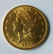 United States 1899-P Choice Condition Gold $20 Double Eagle