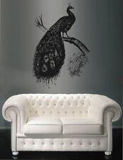 ik1651 Wall Decal Sticker Indian peacock tree branch bird living room bedroom