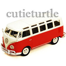 Maisto VW Volkswagen Samba Bus Van 1:25 Diecast Model Car 34956 Red