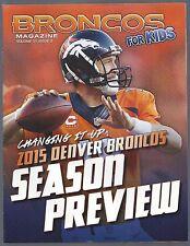 2015 NFL DENVER BRONCOS OFFICIAL MAGAZINE FOR KIDS - EXCLUSIVE TRADING CARDS
