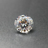 White Zircon 20mm 47.65Ct Round Cut AAAAA VVS Loose Gemstone