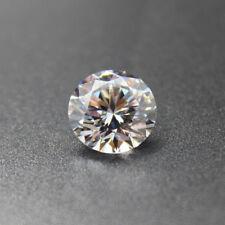 White Zircon 6mm 1.45Ct  Round Cut AAAAA VVS Loose Gemstone