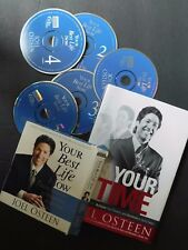 JOEL OSTEEN It's Your Time + Your Best Life Now--  Hardcover book and 5 CD's VG+