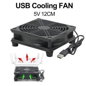 12cm 5V USB Power TV Set-Top Box Router Radiator Cooler Air Cooling Fan Sanwood