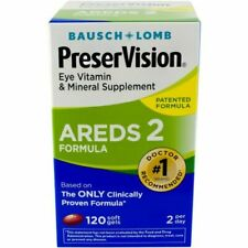 PreserVision AREDS 2 Vitamin & Mineral Supplement 120 Count Soft Gels - New