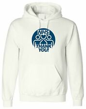 NHS Round Thank You, PERSONALISED HOODIE CUSTOM HOODED MEN T SHIRT TOP DESIGN
