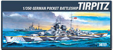 Academy Ship 1/350 Scale Hobby Plastic Model Kit German Tirpitz Battle #14111