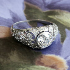 1.50ct Round Diamond Vintage Art Deco 14k Certified Engagement and Wedding Ring