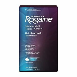 Women's ROGAINE Hair Regrowth Treatment Foam 4 Month Supply exp 2022