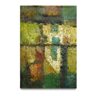 NY Art - Large Green Modern Abstract 24x36 Original Oil Painting on Canvas