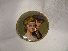 Meeting on the Path Norman Rockwell Rediscoved Women Knowles 24K Gold Rim Plate