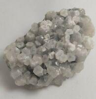 Fluorescent calcite on fluorite specimen, Morocco, 132.7 grams!!!