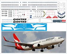1/144 PAS-DECALS (SM). Boeing 737-800 for Zvezda & Revell QANTAS