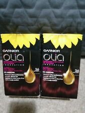 2 x L'Oreal Garnier Olia 3.6 Deep Cherry Permanent Hair Dye New Free P&P