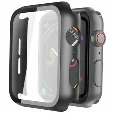 Glass+Case For iWatch Apple Watch 5 4 3 2 1 Tempered Glass Screen Protector Case