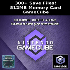 GameCube Save Collection | 300+ Saves | 100% Complete | 512MB Memory Card
