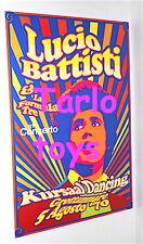LUCIO BATTISTI + Formula Tre - Grottammare, italy 5 agosto 1970 poster concerto