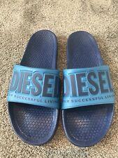 Diesel Blue Sliders Flip Flops, Size 43 (UK 9)