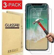 3 Pack Tempered Glass Screen Protectors For iPhone 5 6 7 8 Plus X XS Max XR