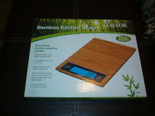 TAYLOR Bamboo Kitchen Scale Eco Friendly 11lb Capacity NEW 3828