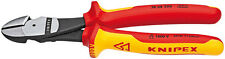 Knipex 7408200US High Leverage Diagonal Cutters Insulated, 1000V 8 In