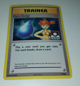 Pokemon Trainer Gym Badge NM League Promo XY204 Holo Trainer Misty card