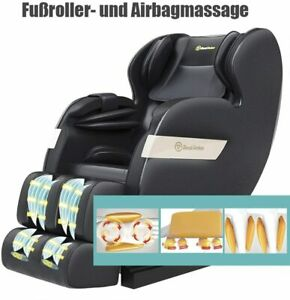 RealRelax Full Body Shiatsu Massagesessel Favor-03 plus TJX Farbe schwarz
