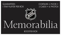 NHL Booster Box | 2 Pucks + 2 Cards + 6 photos | Autographed Hockey Memorabilia