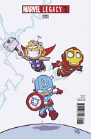 MARVEL LEGACY #1 SKOTTIE YOUNG VAIANT AVENGERS THOR CAPTAIN AMERICA MARVEL COMIC