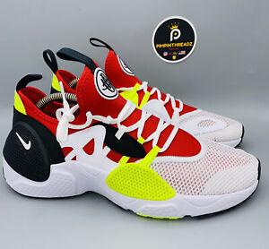 NEW Mens Sz 10.5 Nike Huarache Trainer EDGE TXT Running Shoes White Red Volt