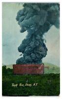 Tank Fire, Olean, NY Postcard