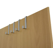 4 x Türhänger TÜRHAKEN Kleiderhaken Garderobenhaken Haken für Tür aus Metall