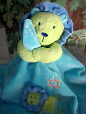 CaRTeR's JuST ONe YeaR BLUE GReeN PLuSH LION HUG ME SeCuRiTy BLaNKeT LoVeY