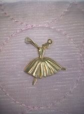 Beautiful 14k yellow gold with pearl ballerina/dancer charm