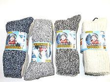 6 Pairs Of Ladies Chunky Wool Socks, Thick Heavy Duty Work Boot Socks, 4-7