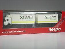 Rare: Herpa Exclusive MB Sk Roadtrain Schenker Eurocargofairs Boxed