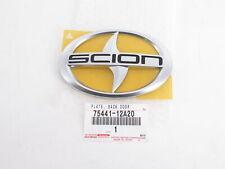Genuine OEM Scion 75441-12A20 Rear Hatch Liftgate Emblem Badge
