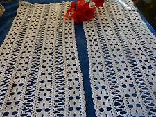lot 2futurs rideaux ou jeté de table crochet coton fait main neufs 1m,35x0,39