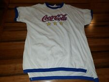 Vintage Coca-Cola T Shirt Yellow Red Blue coke Color stars Ringer One Size