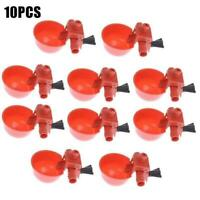10x Poultry Chicken Automatic Water Drinking Cup Hen Quail Drinker Plastic Y0L5
