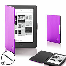 Purple Smart Shell Case Cover for Kobo Touch 2.0 eReader with Free Stylus