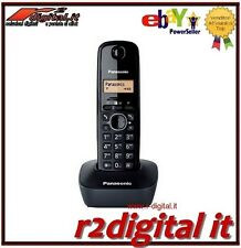PHONE CORDLESS PANASONIC KX-TG1611 WHITE BLACK RED LCD DISPLAY TABLE WALL