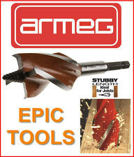 ARMEG 25mm x 120mm Length Stubby Wood Beaver Auger Drill Bit, For Joists,WWBST25