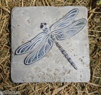 """Dragonfly plastic tile mold plaster cement resin wax paper casting 6"""" x 6"""" x 1/3"""