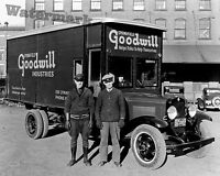Photograph of a Vintage Goodwill Delivery Truck Year 1932  8x10