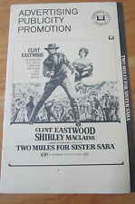 TWO MULES FOR SISTER SARA Pressbook 1970 CLINT EASTWOOD Never used.