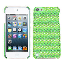 iPod Touch 5 5th gen Crystal Diamond BLING Hard Case Snap On Cover Green Dots